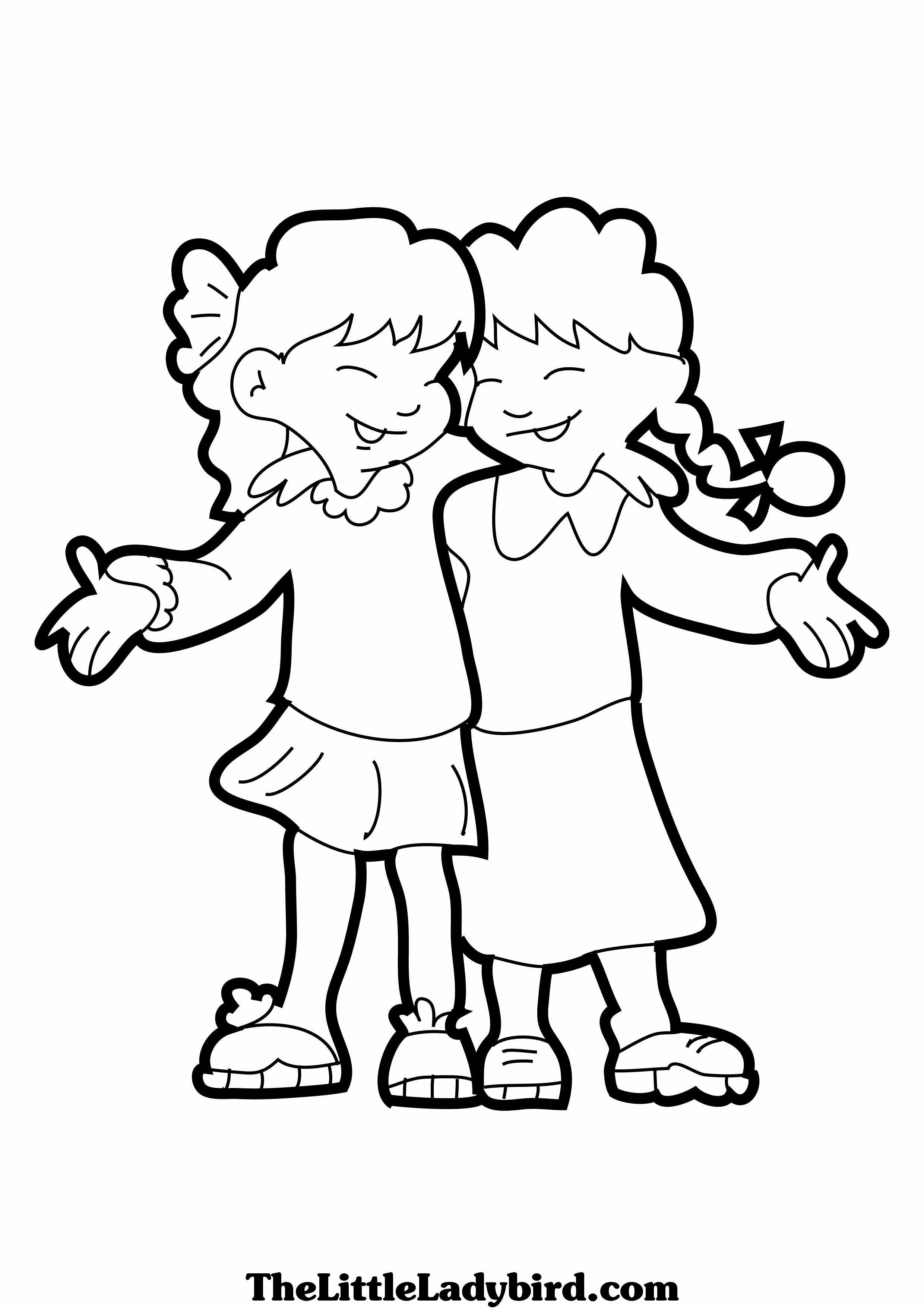 Free Friendship Coloring Pages At Getdrawings