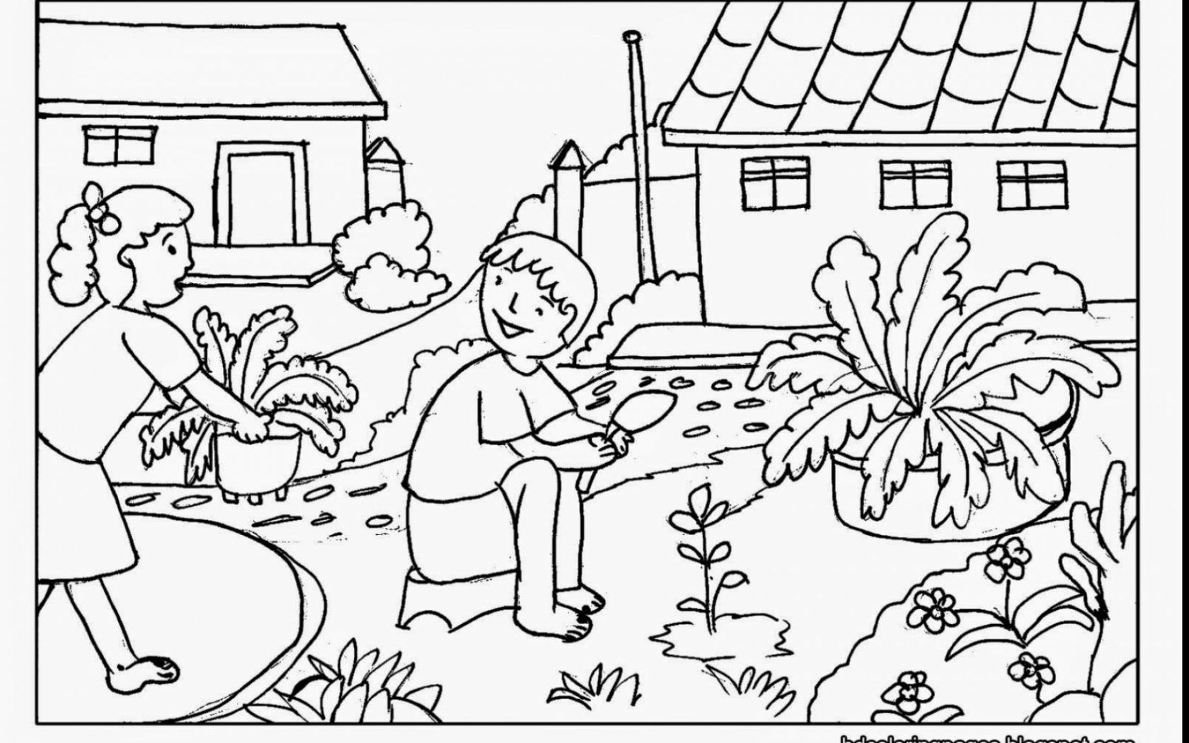 Free Garden Coloring Pages At Getdrawings