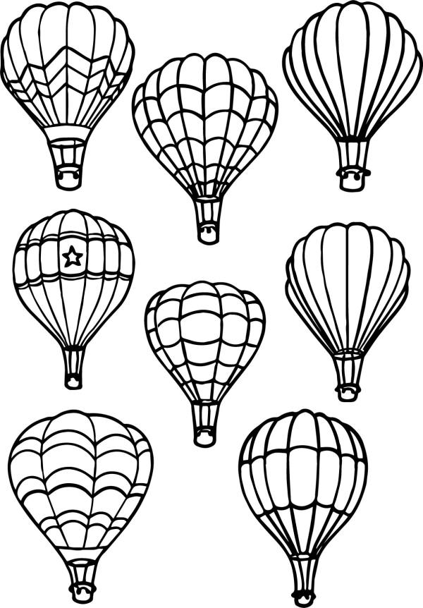 hot air balloon coloring pages # 17