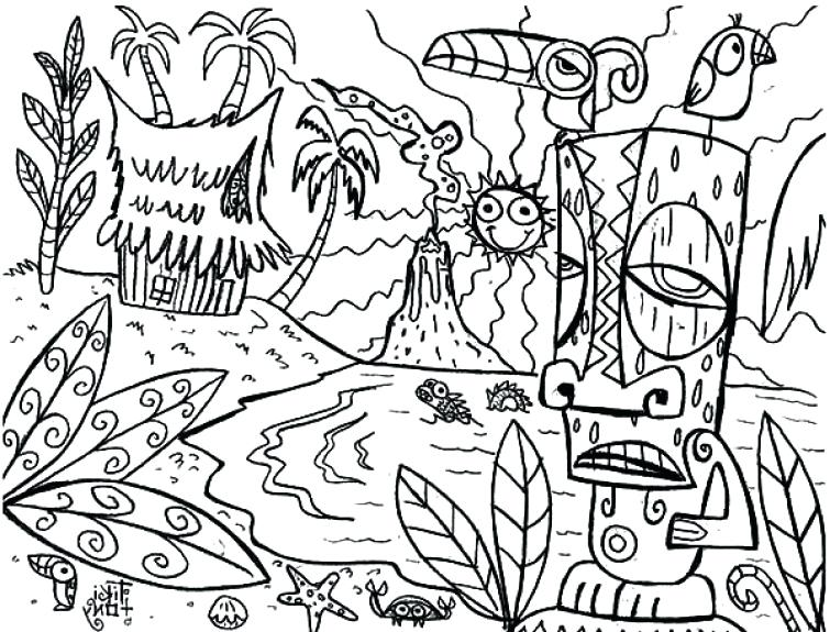 the best free luau coloring page images. download from 134