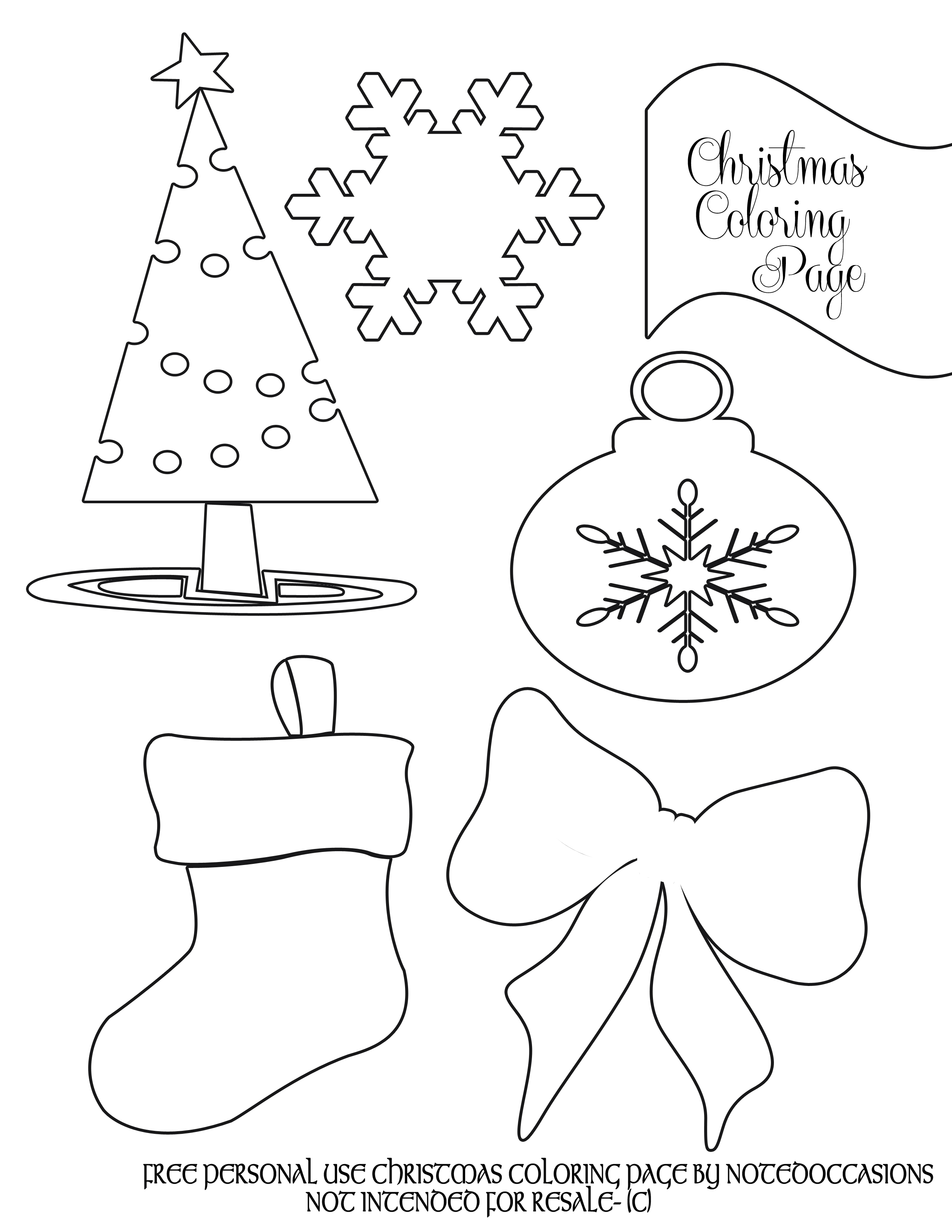 Free Printable Christmas Coloring Pages For Kids At