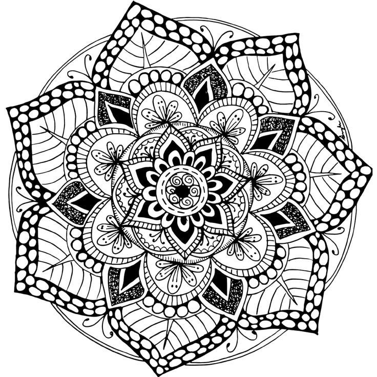 Free Printable Mandala Coloring Pages For Adults at ... | coloring pages mandalas printable