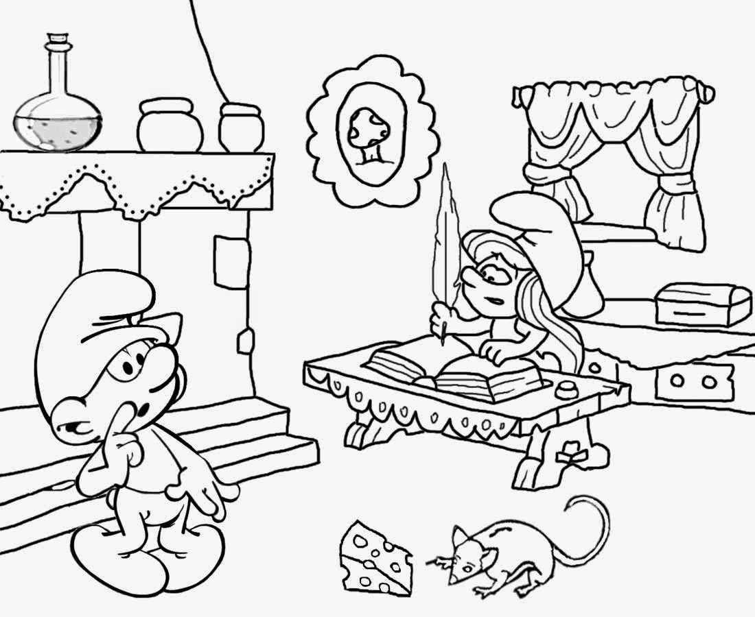 Free Smurf Coloring Pages At Getdrawings