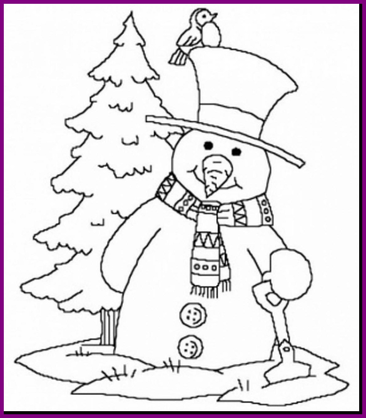 Free Winter Coloring Pages For Kindergarten At Getdrawings