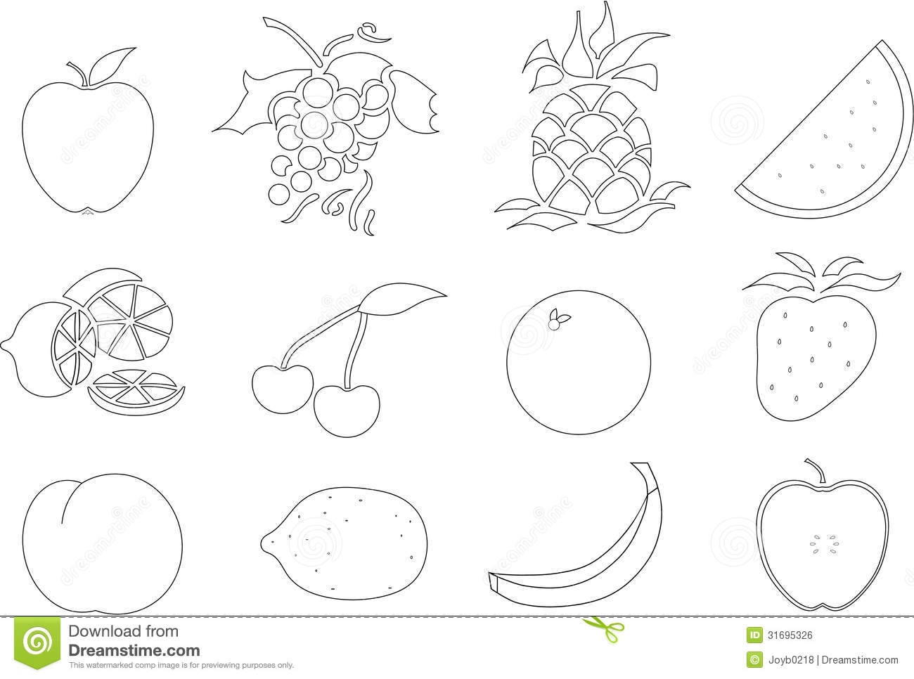 Fruit Salad Coloring Page At Getdrawings