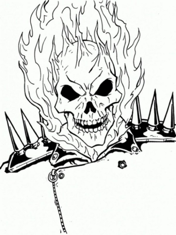 ghost rider coloring pages # 25