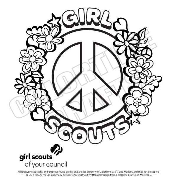 girl scout daisy coloring pages # 59
