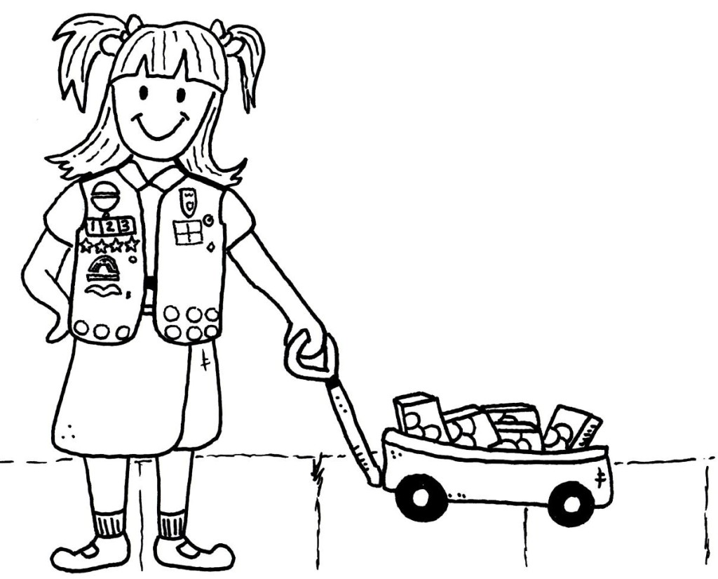 Girls Scout Cookie Coloring Pages At Getdrawings
