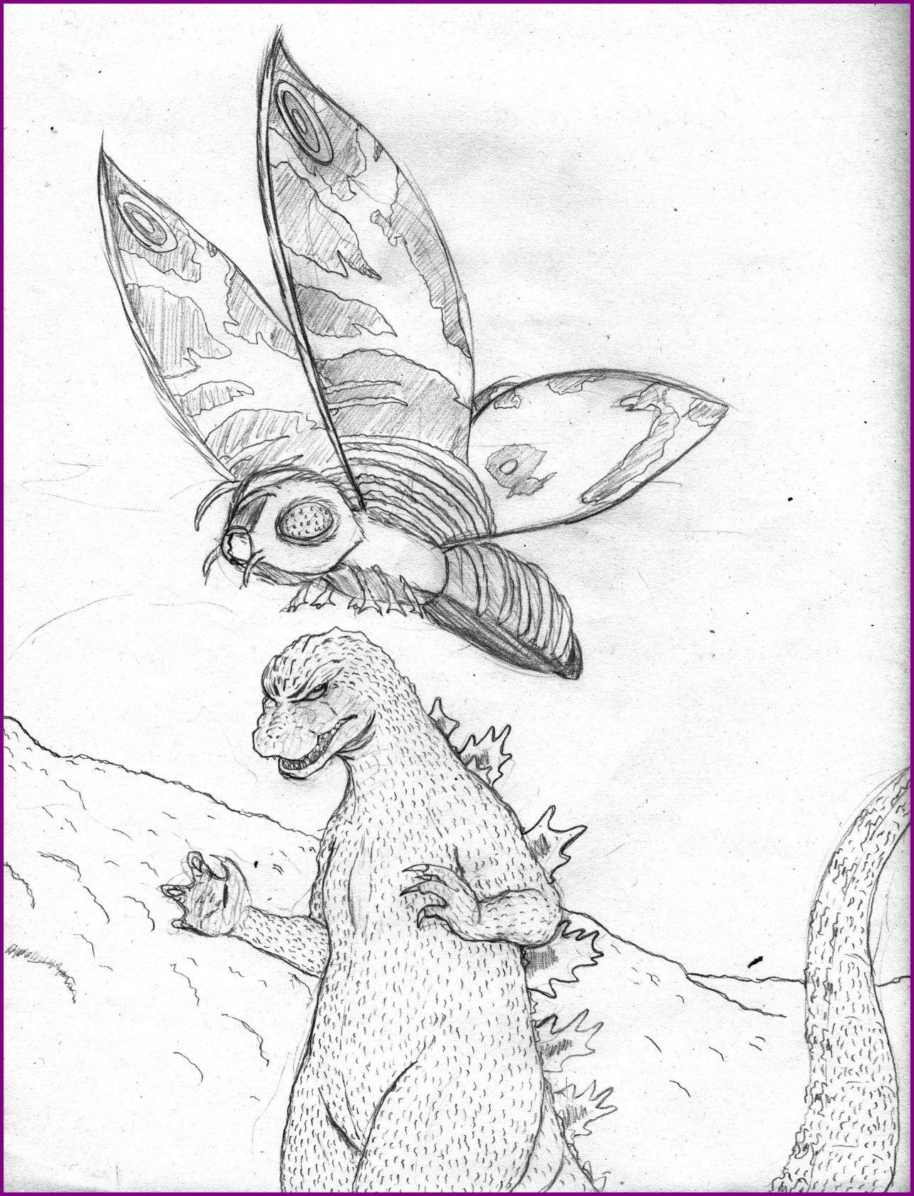 Godzilla Drawing At Getdrawings