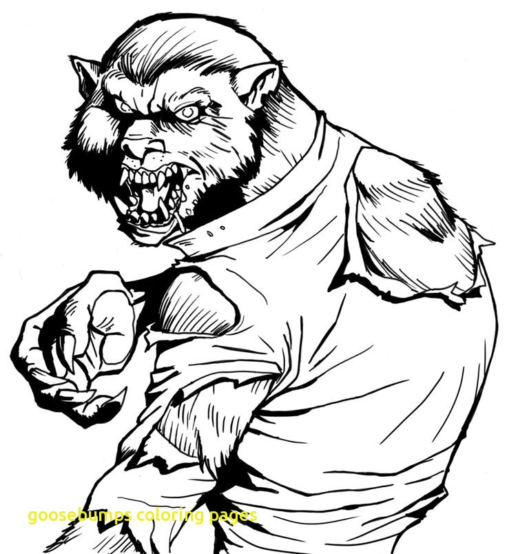 goosebumps coloring pages at getdrawings  free download