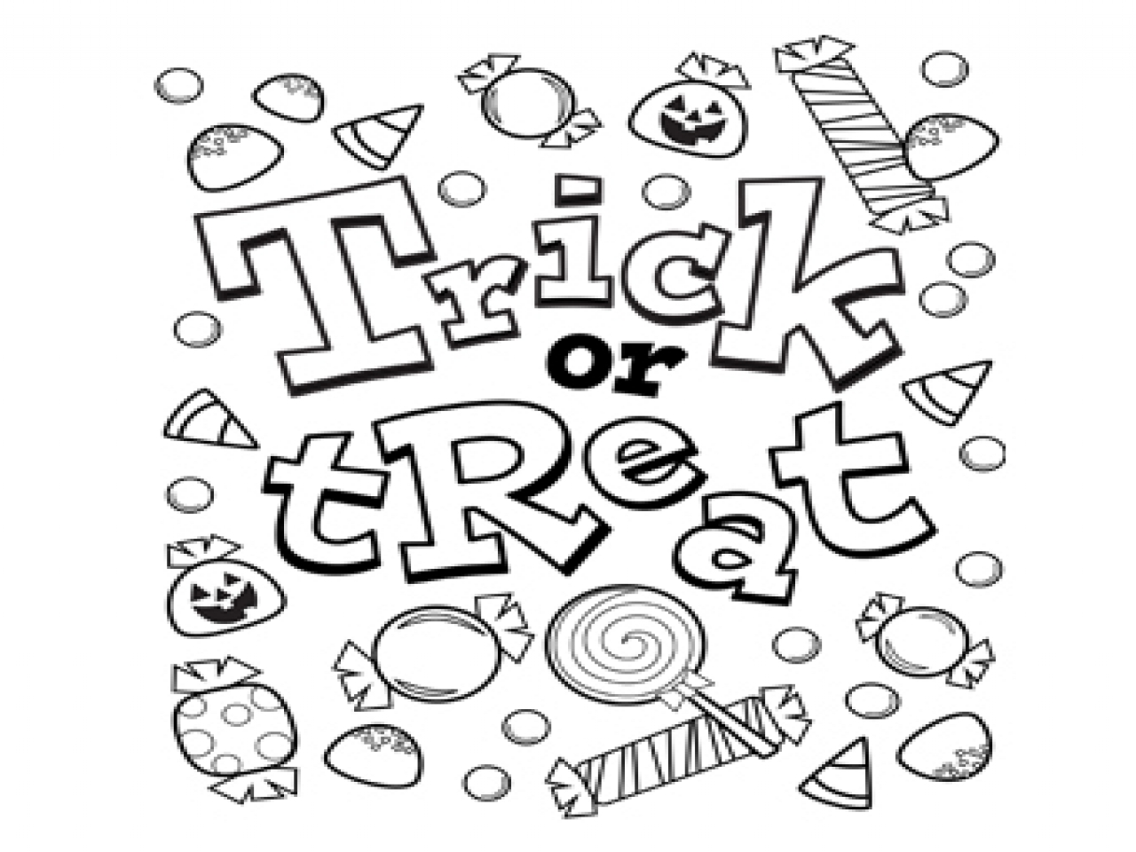 Halloween Candy Coloring Pages At Getdrawings