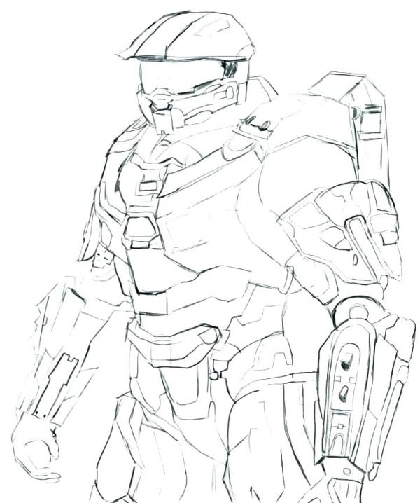 coloring pages halo # 26