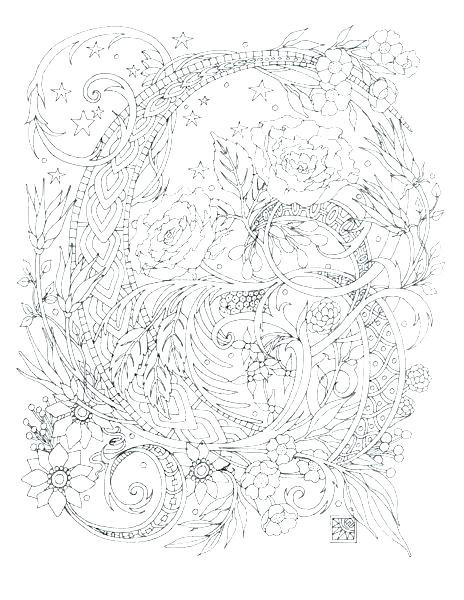 hard coloring pages for adults # 90