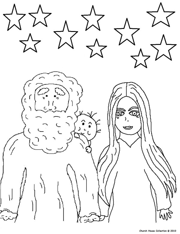 abraham and sarah coloring pages # 11