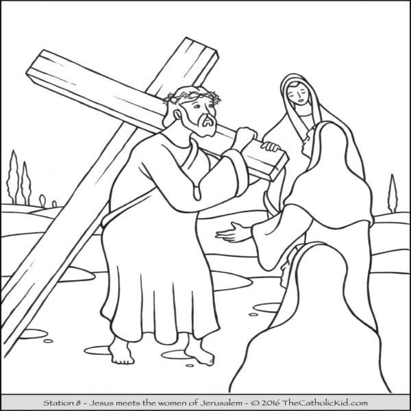 jesus on the cross coloring page # 40