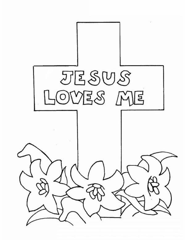 Jesus Loves Me Coloring Page at GetDrawings | Free download