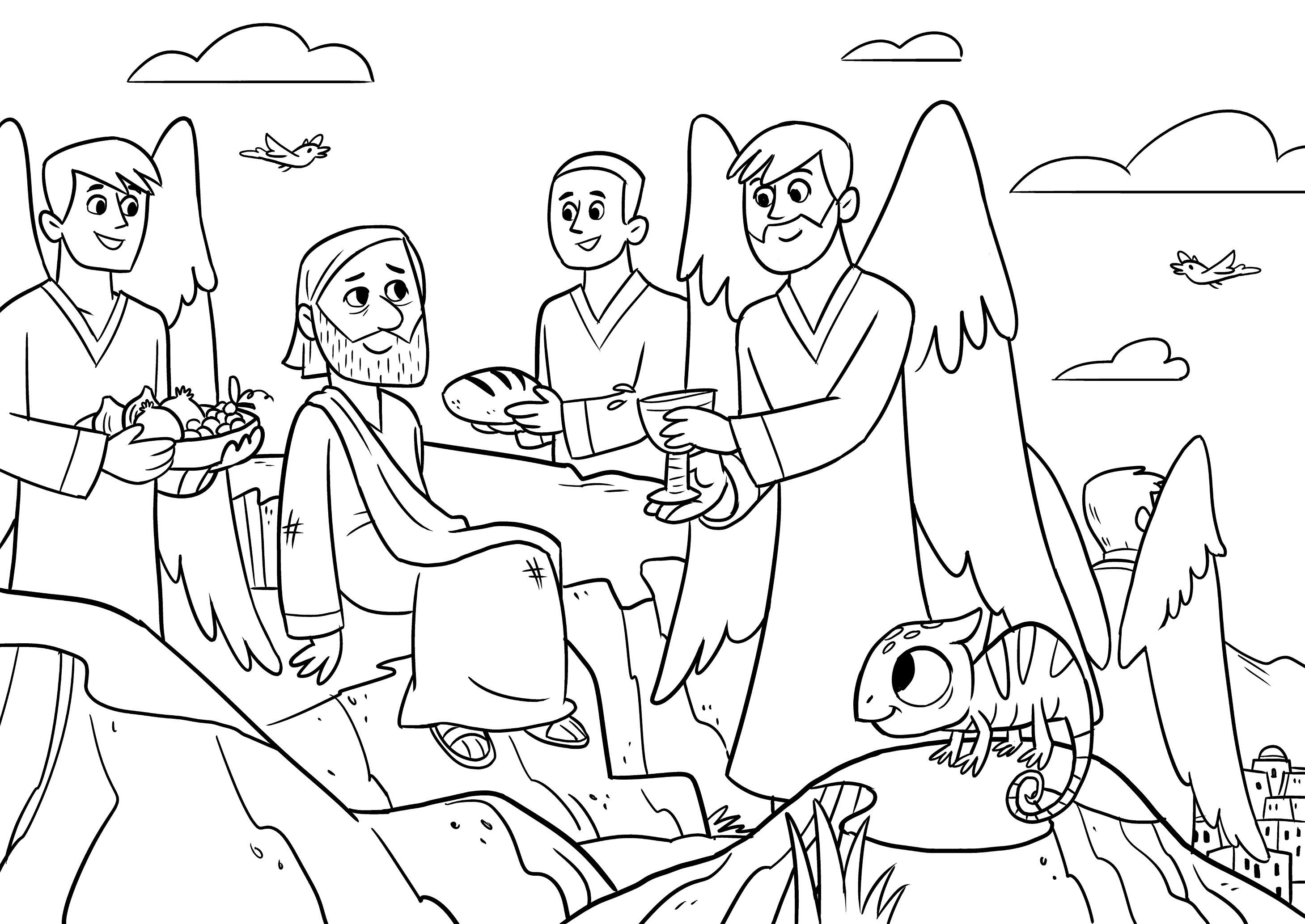 Jesus Temptation Coloring Page At Getdrawings