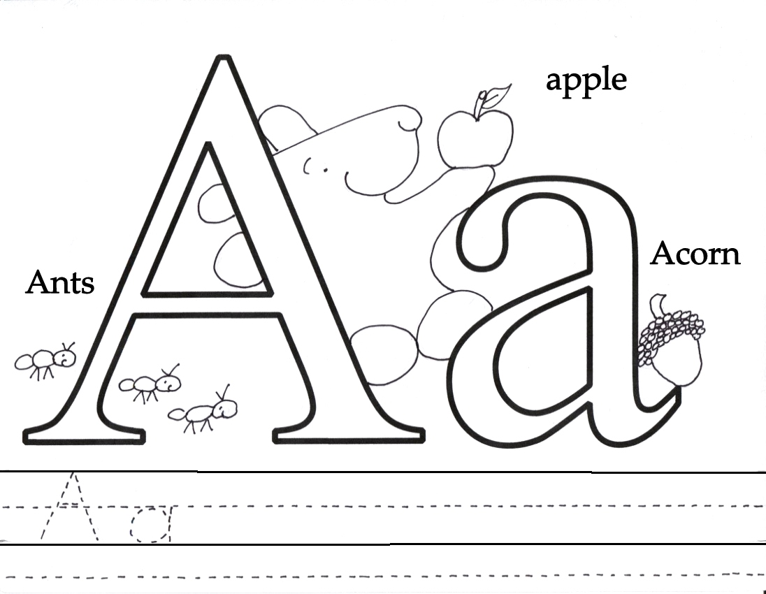 Letter Aa Coloring Pages At Getdrawings
