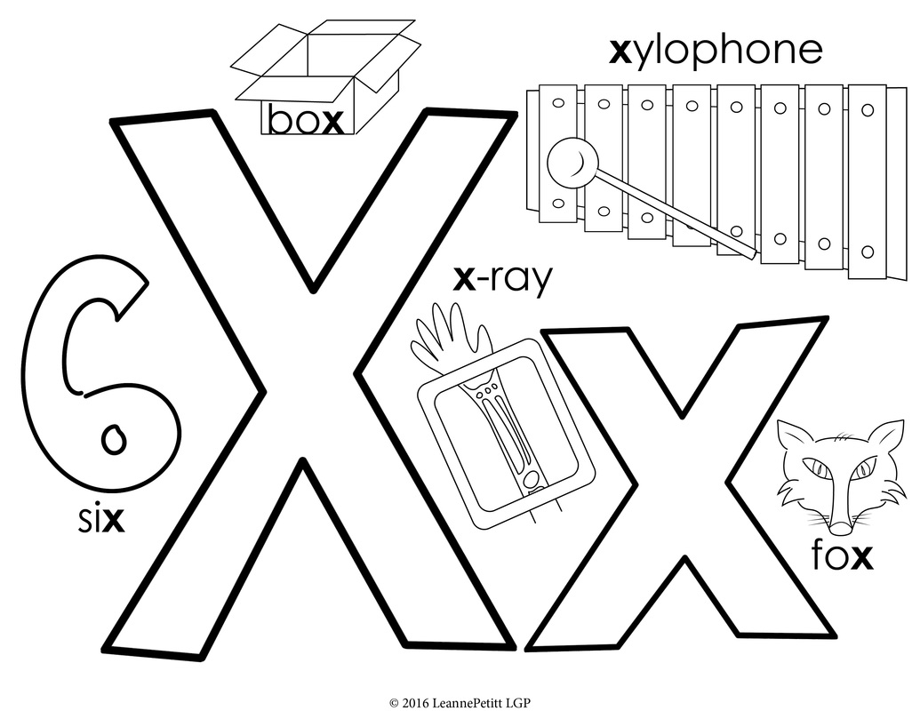 Letter X Coloring Pages Preschool At Getdrawings