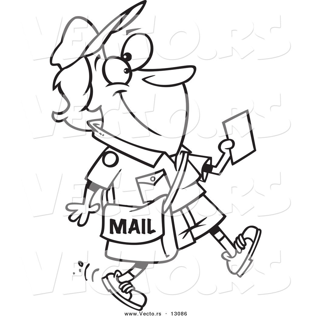 Mail Carrier Coloring Page At Getdrawings
