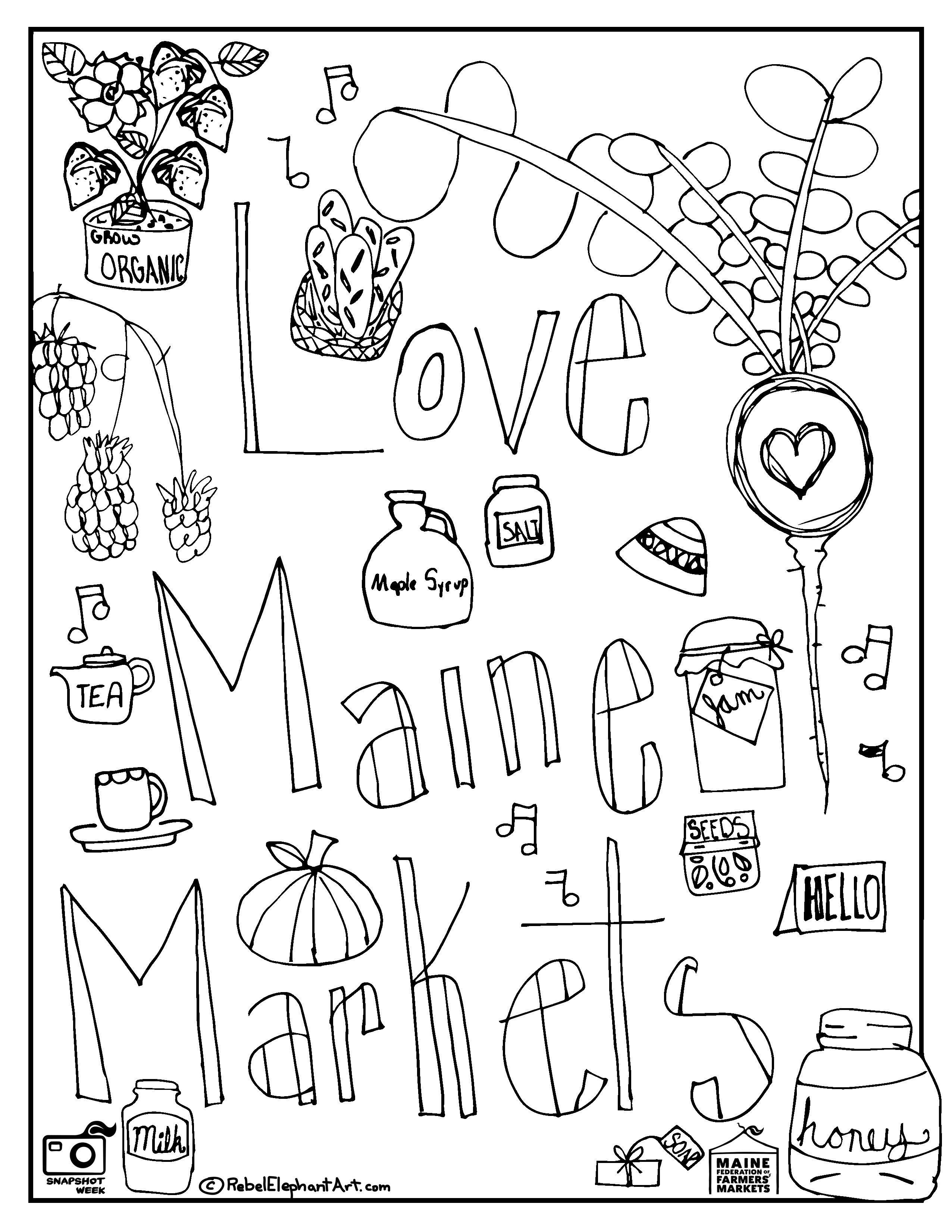 Market Coloring Page At Getdrawings