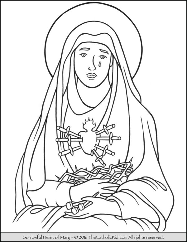 mary coloring pages # 33