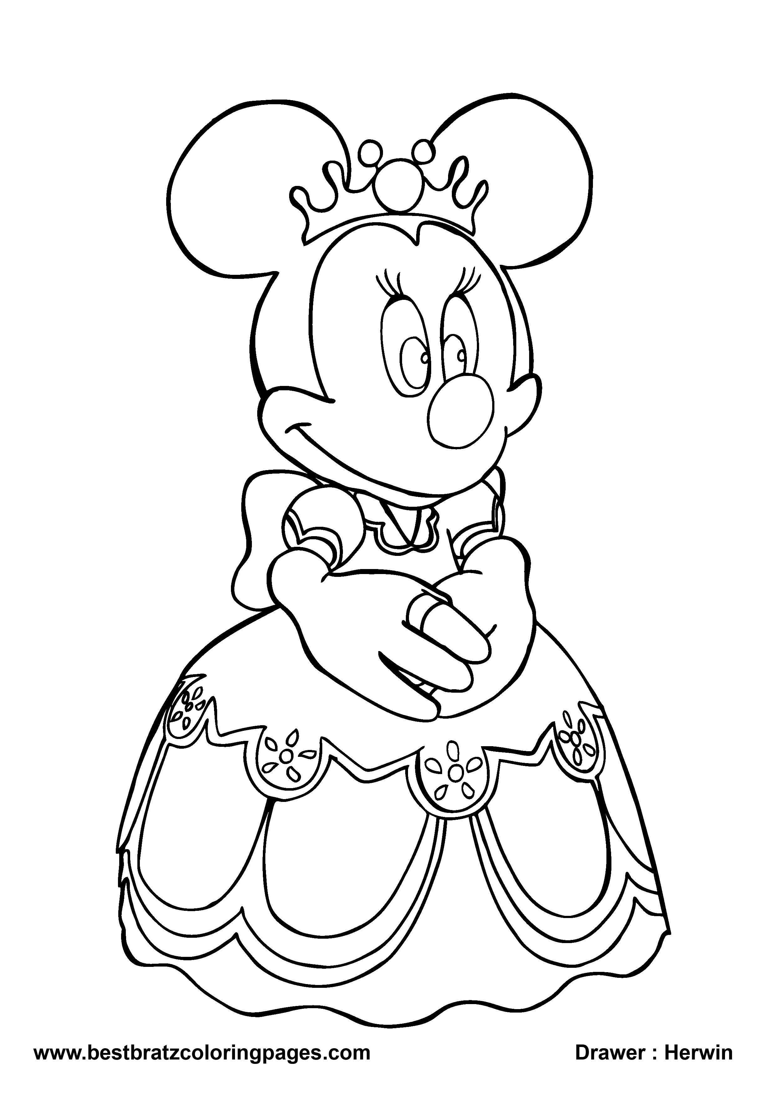 Minnie Mouse Drawing At Getdrawings