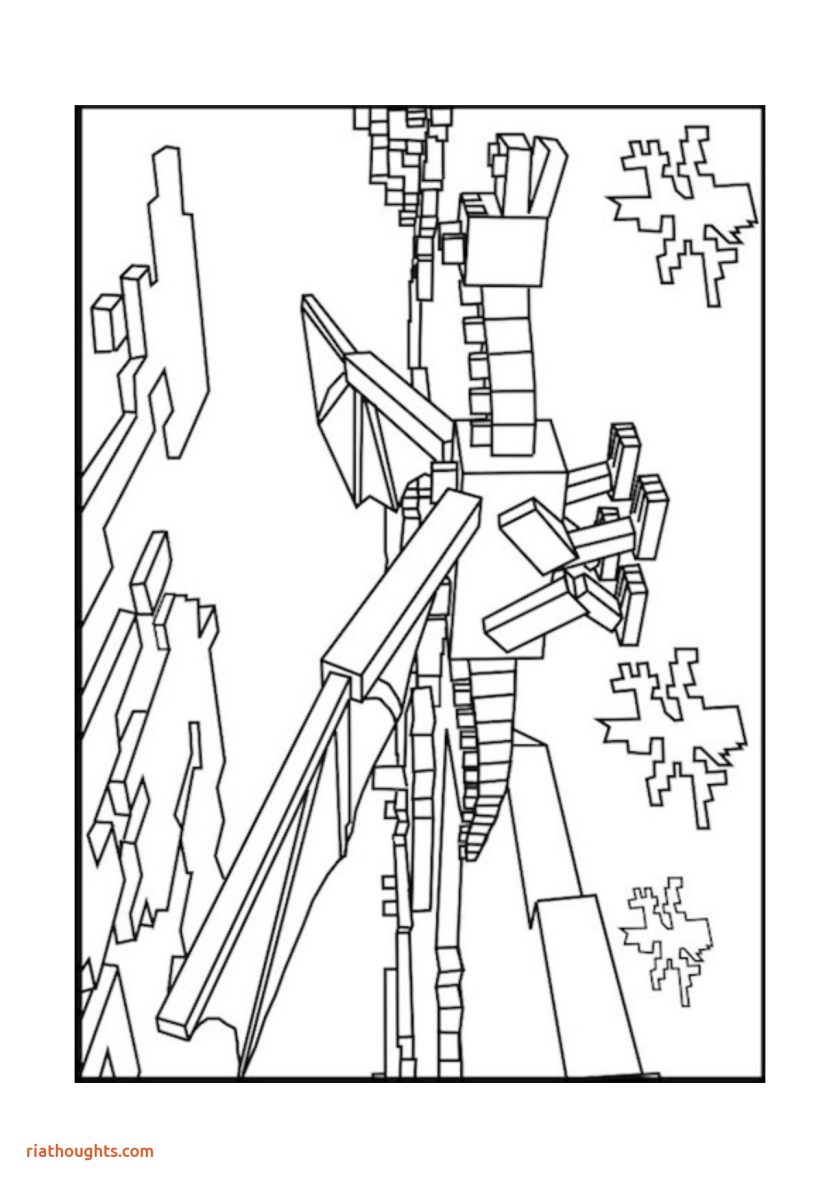 minecraft coloring pages ender dragon at getdrawings