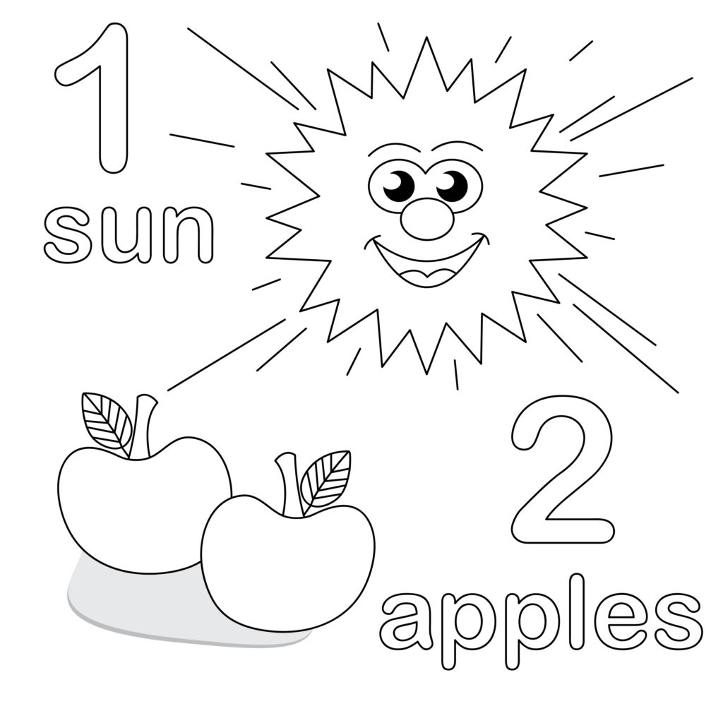 Number 1 Coloring Pages For Preschoolers At Getdrawings