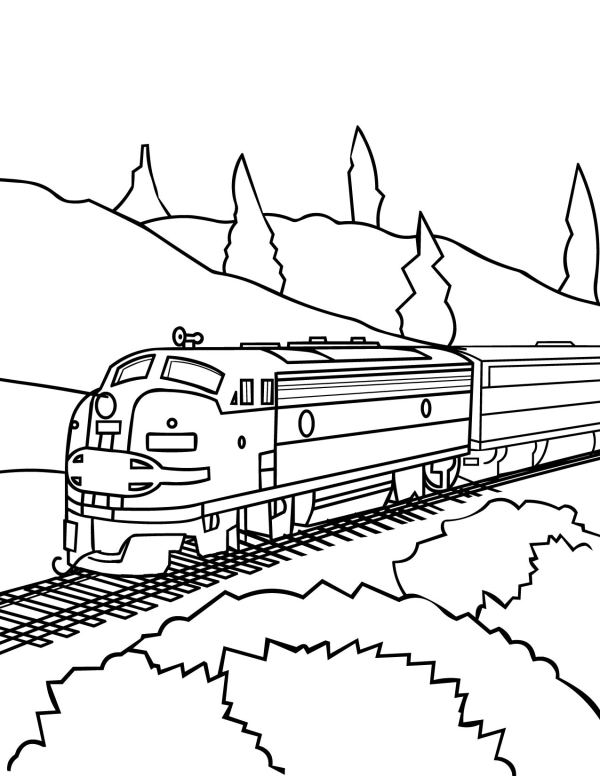 train color pages free printable # 23