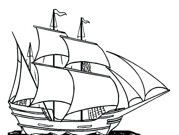 pirate ship coloring pages # 53