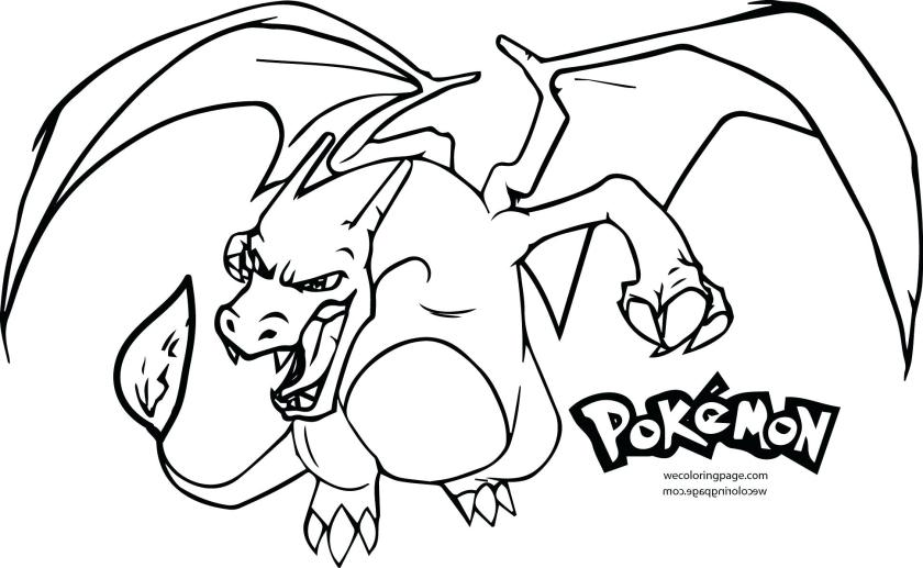 pokemon coloring pages charizard at getdrawings  free