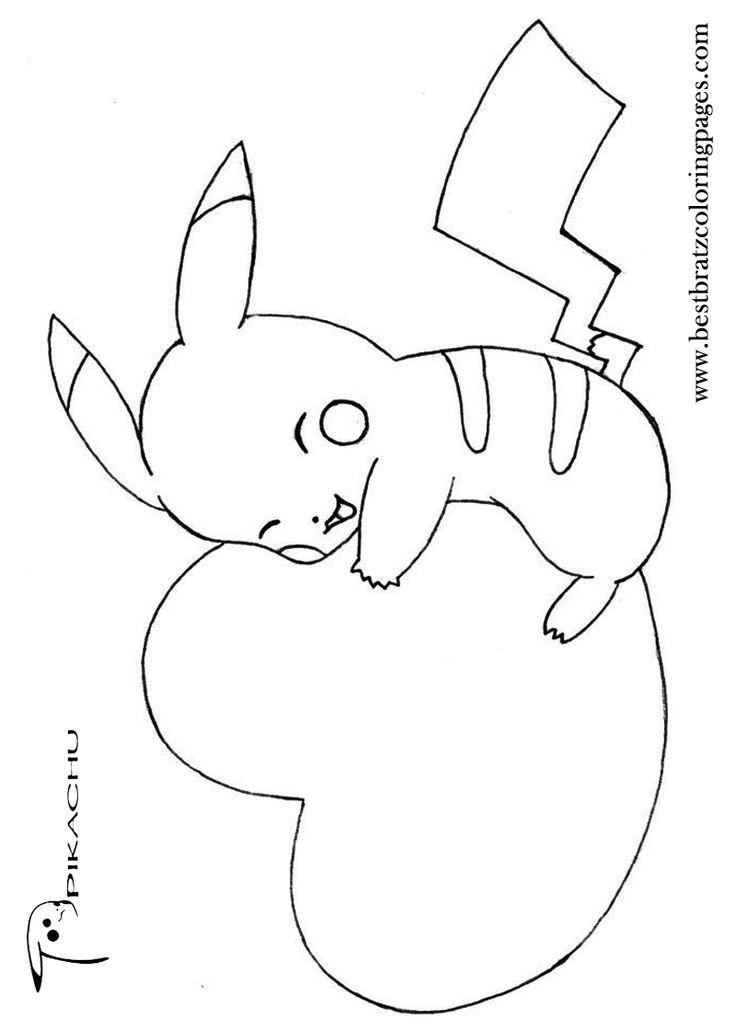 pikachu silhouette at getdrawings  free download