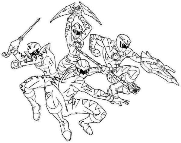 power rangers megaforce coloring pages # 50