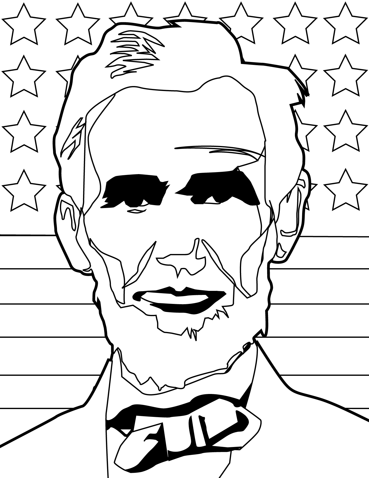 President Lincoln Coloring Pages At Getdrawings