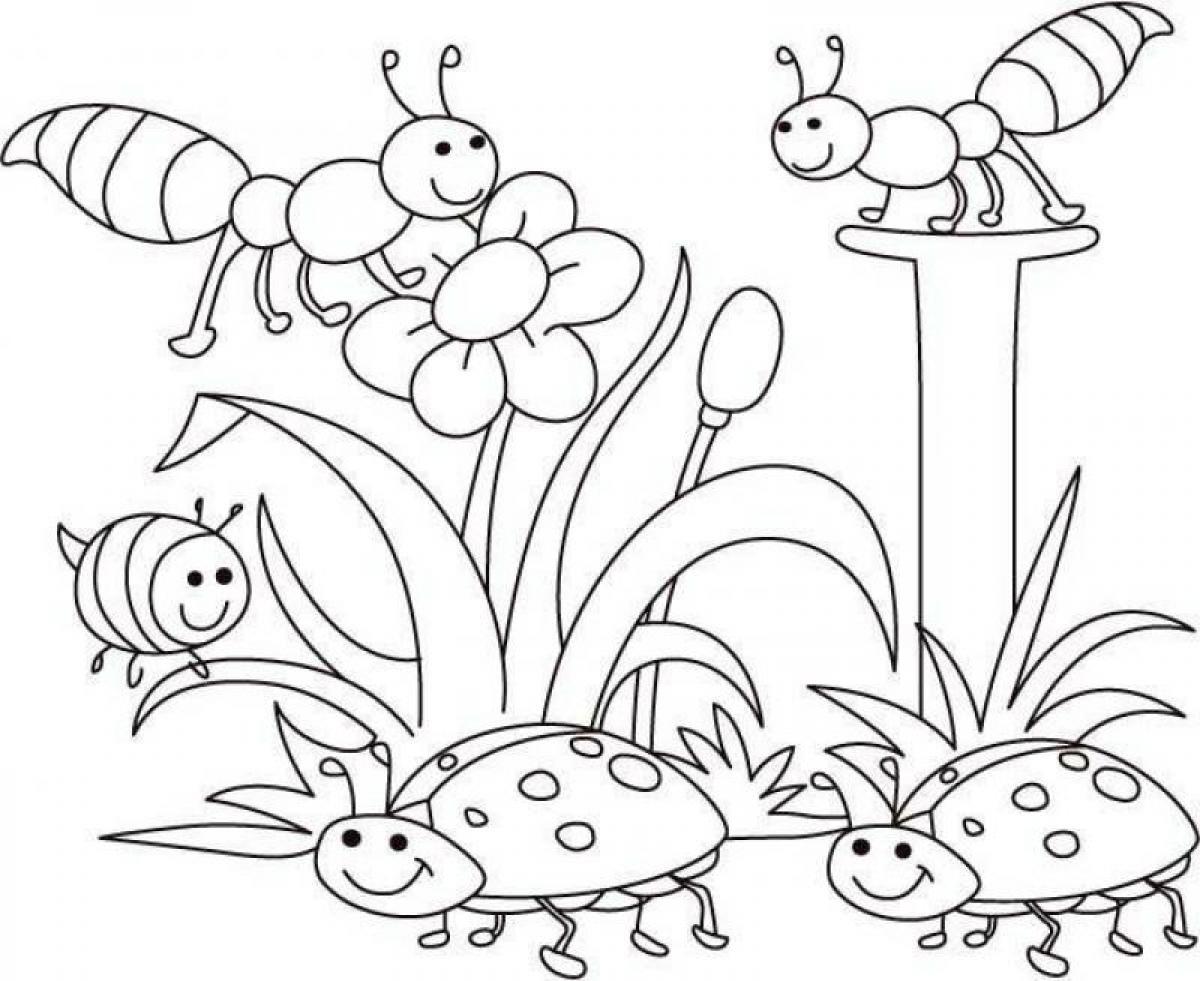 Printable Bug Coloring Pages At Getdrawings