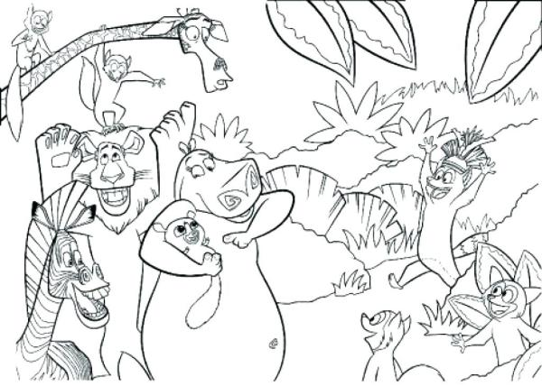 jungle coloring page # 70