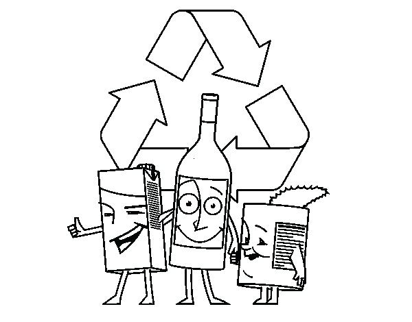 recycle coloring pages # 47