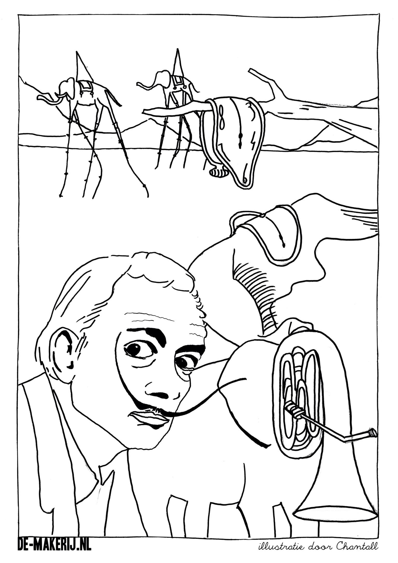 Salvador Dali Coloring Pages At Getdrawings