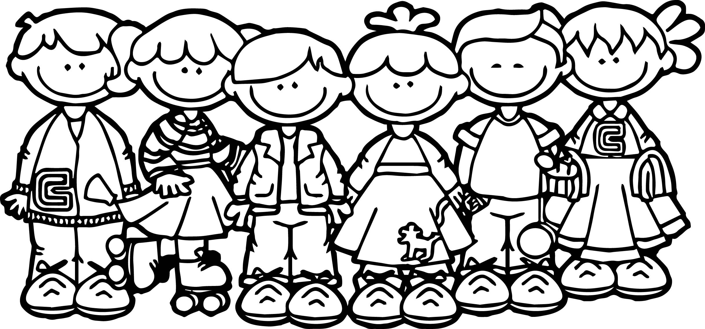 School Kids Coloring Pages At Getdrawings