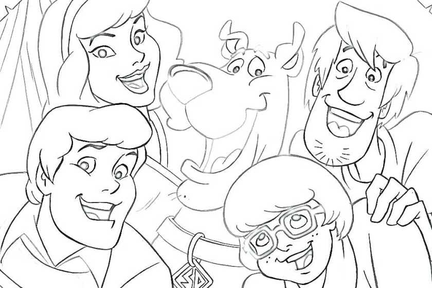 scooby doo and the gang coloring pages at getdrawings