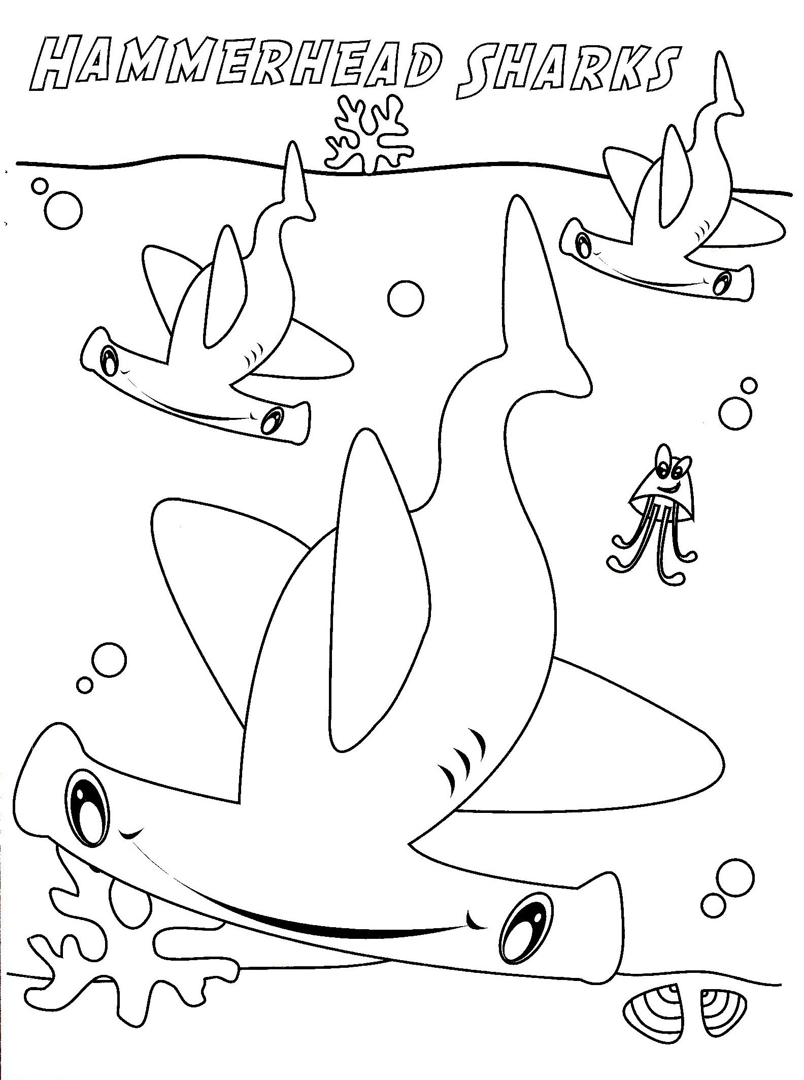 Shark Coloring Pages For Preschoolers At Getdrawings