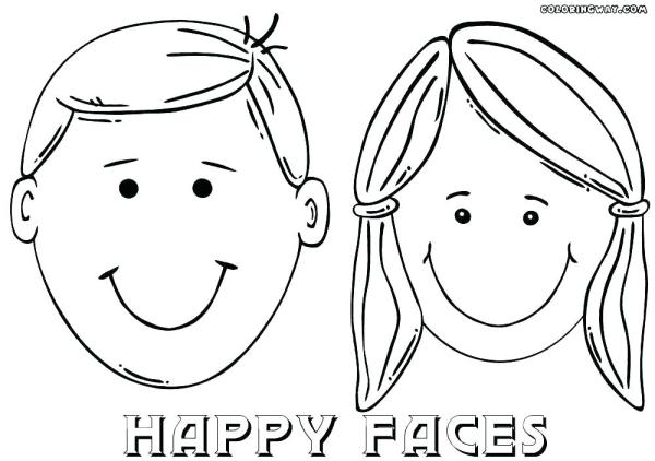 happy face coloring page # 37