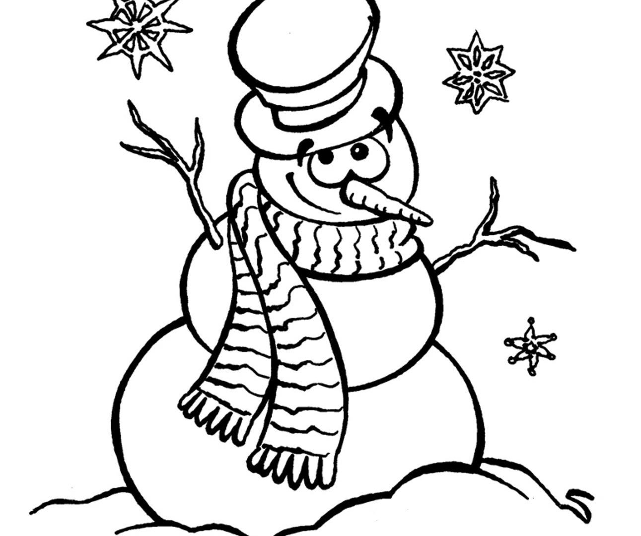Snowman Coloring Pages For Kindergarten At Getdrawings