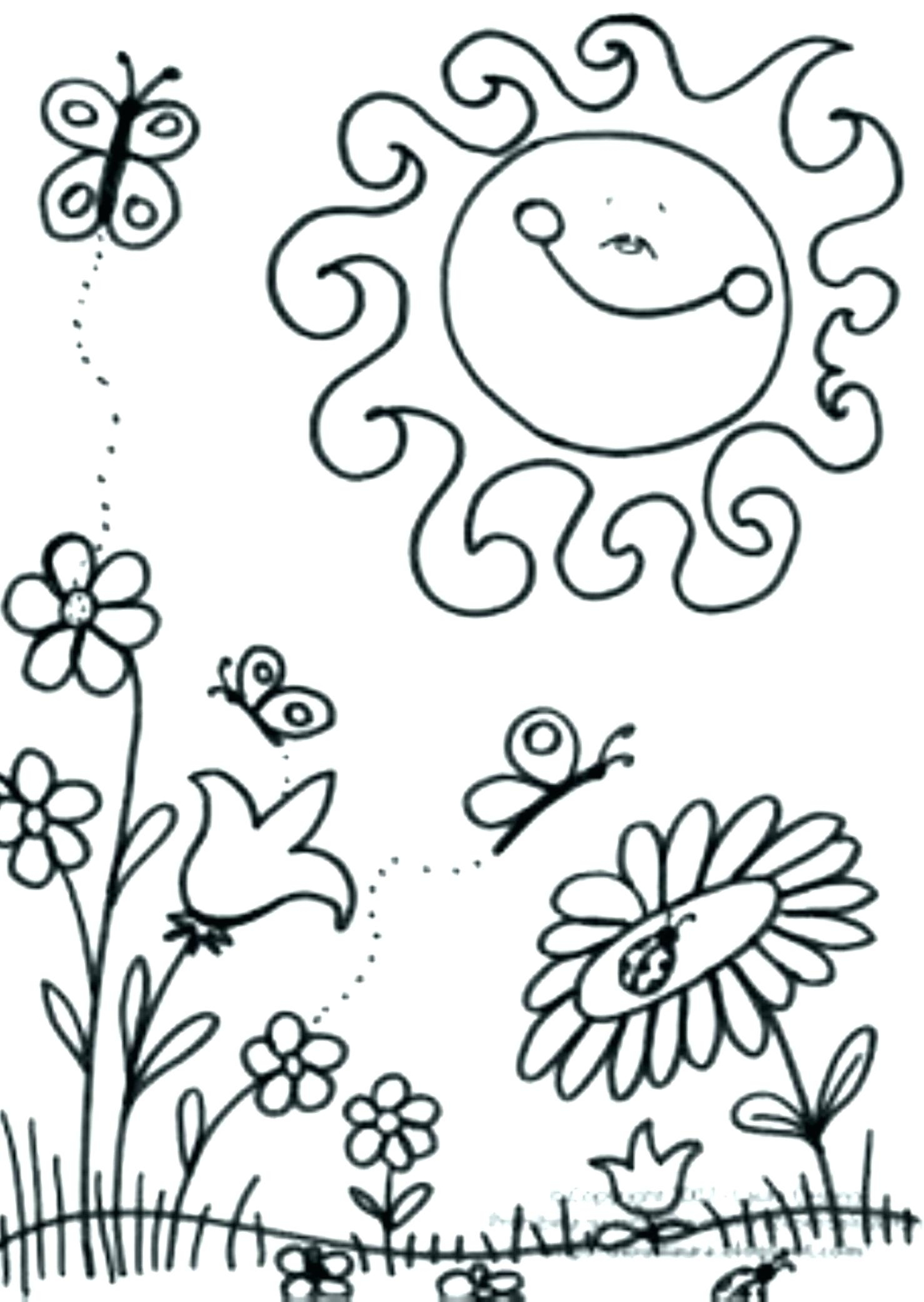 Spring Coloring Pages For Kindergarten At Getdrawings