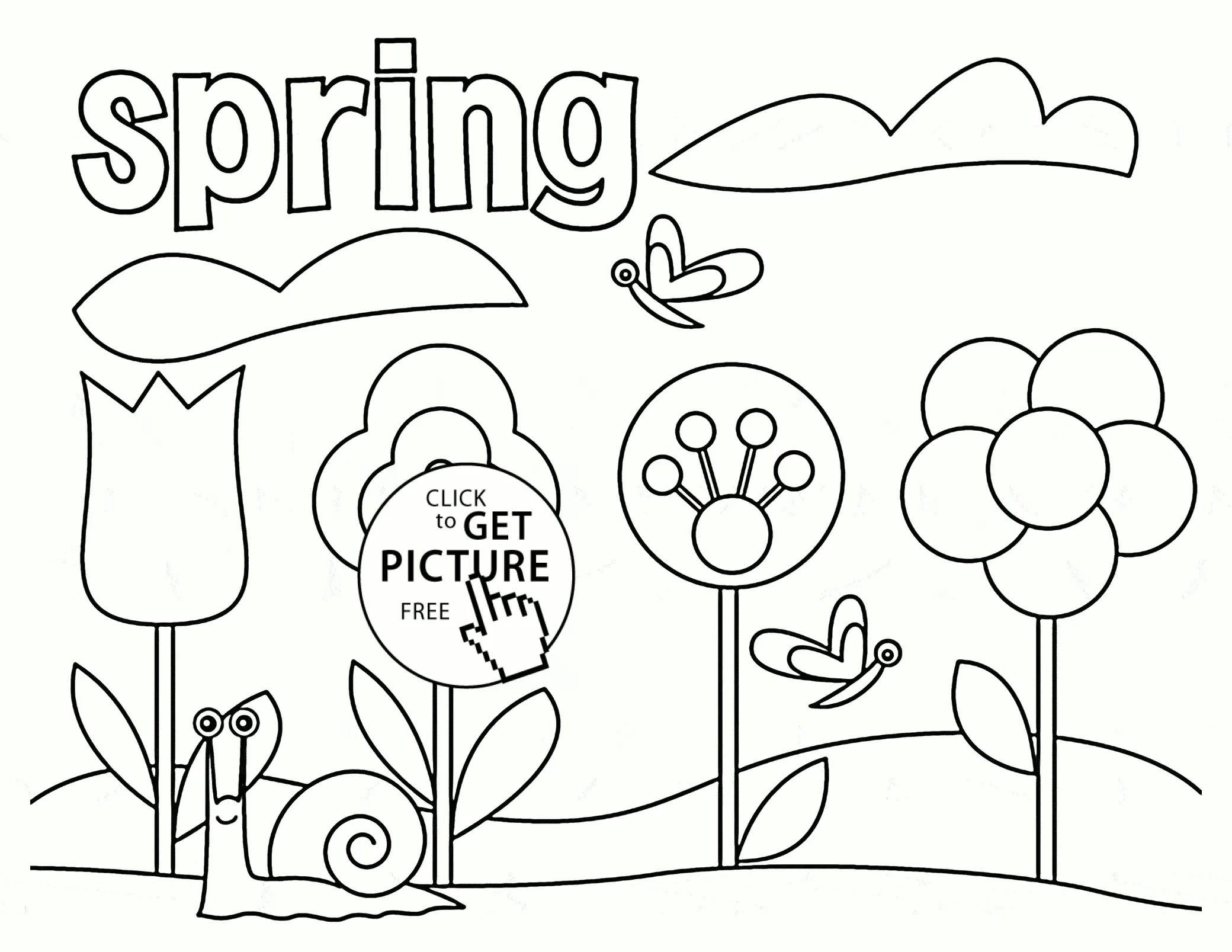 Spring Tree Coloring Page At Getdrawings