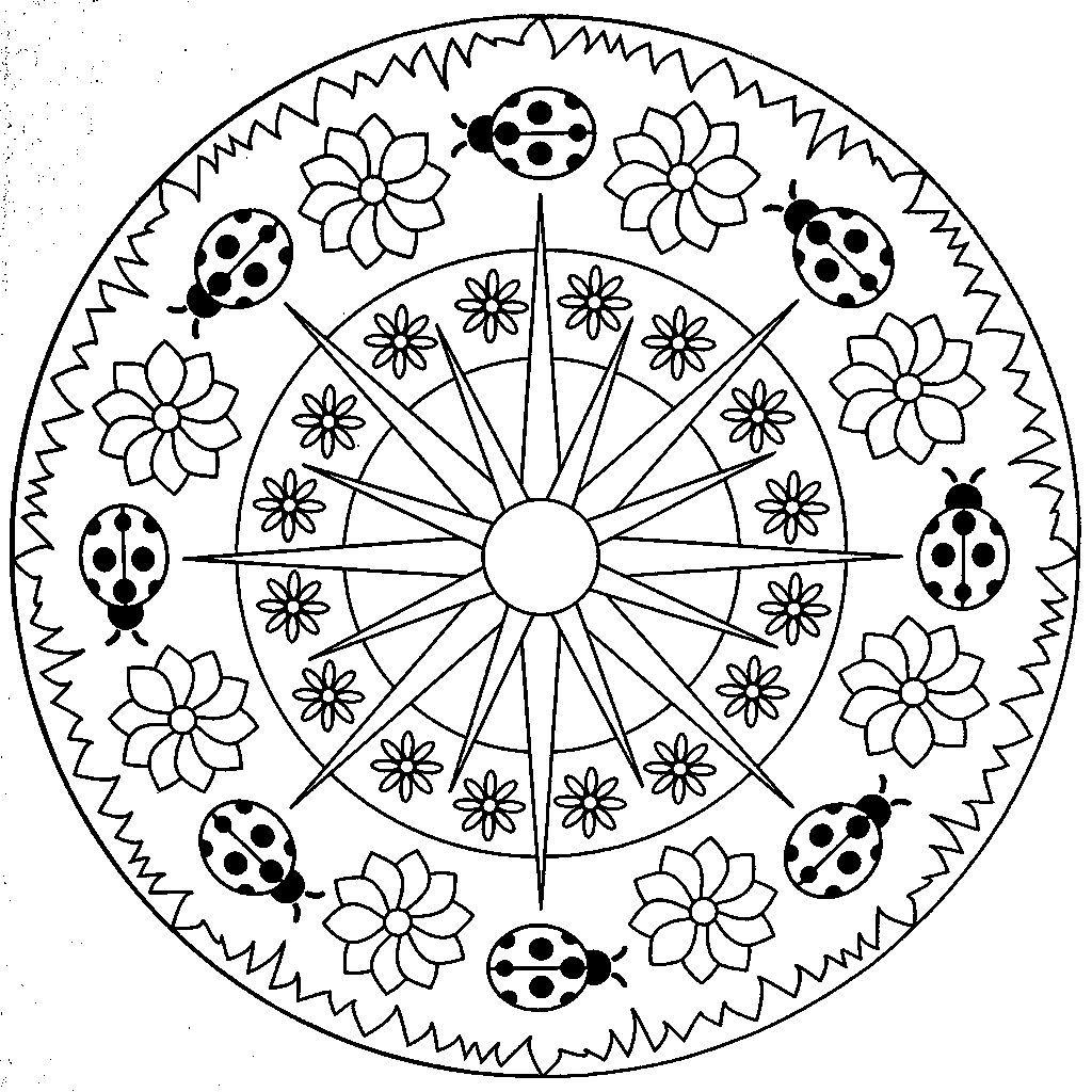 Square Mandala Coloring Pages At Getdrawings