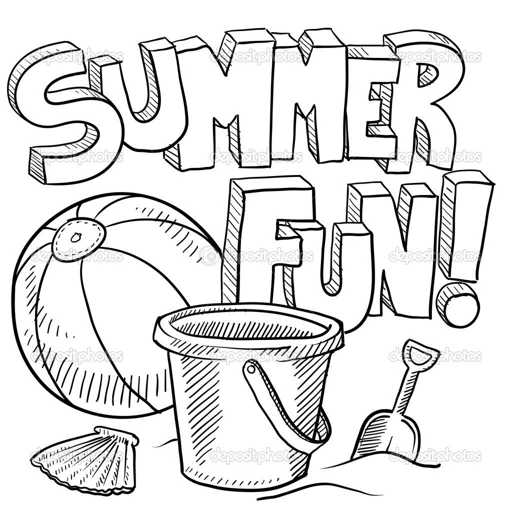 Summer Coloring Pages For Kindergarten At Getdrawings