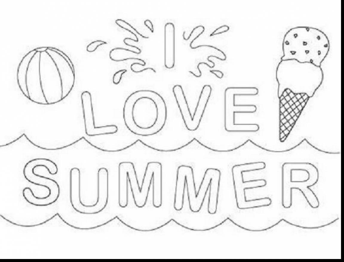 Summer Vacation Coloring Pages At Getdrawings