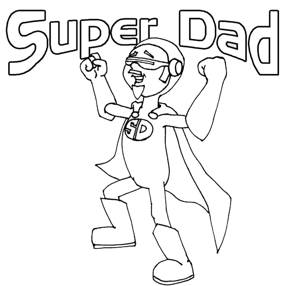 Super Dad Coloring Pages At Getdrawings
